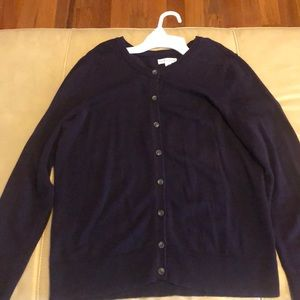 Croft & Barrow Purple Cardigan; Size M; EUC